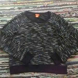 Black and White Marbled Joe Fresh Sweatshirt